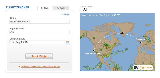 Fear of Flying Framework - Flight Tracking Screenshot